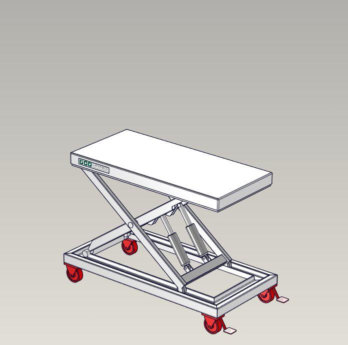 Emelőasztal extrák - 01 Trolley-frame