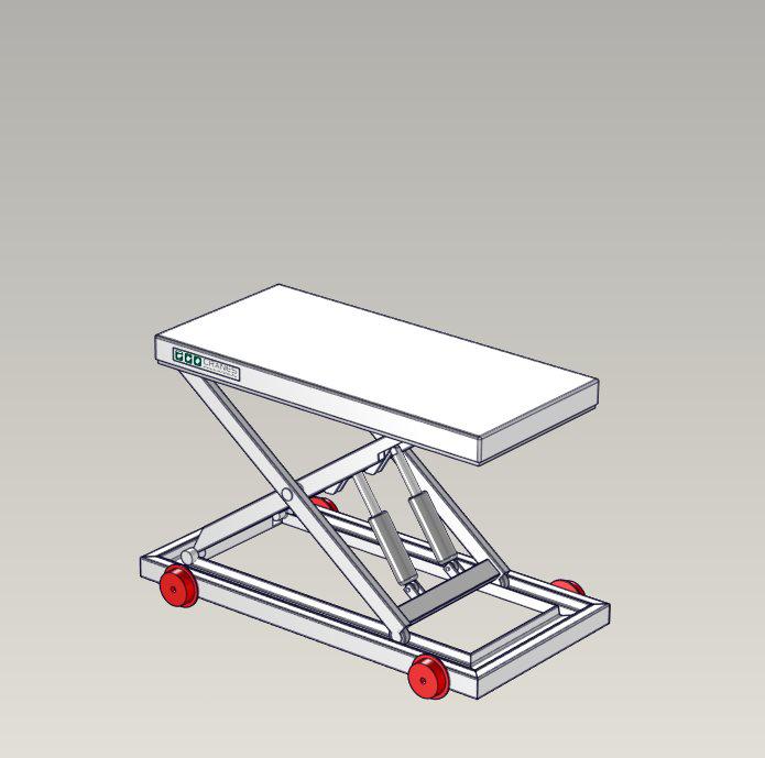 Emelőasztal extrák - 02 Rail-wheel-frame
