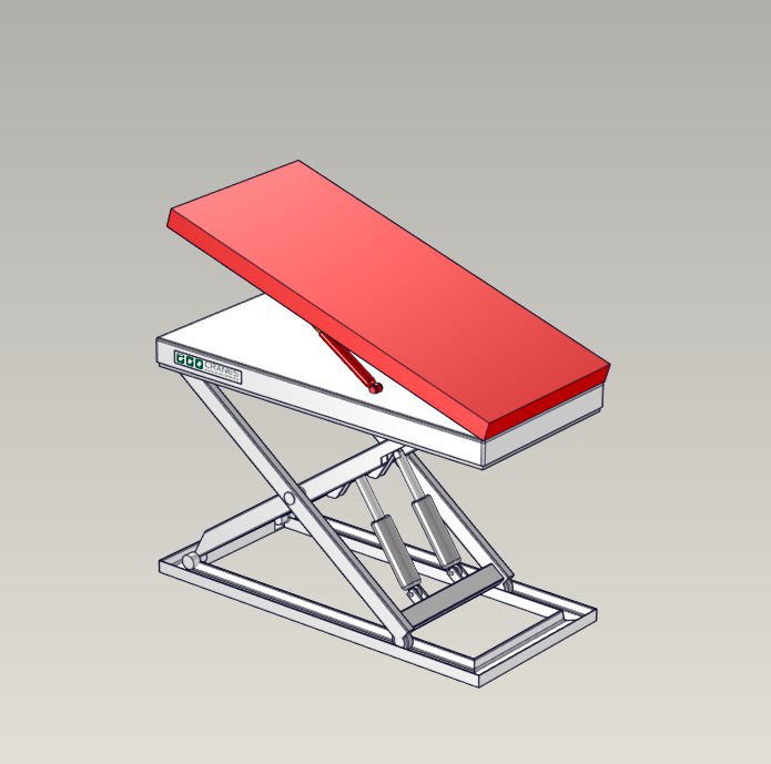 Emelőasztal extrák - 12 Raise-and-Tilt-Platform