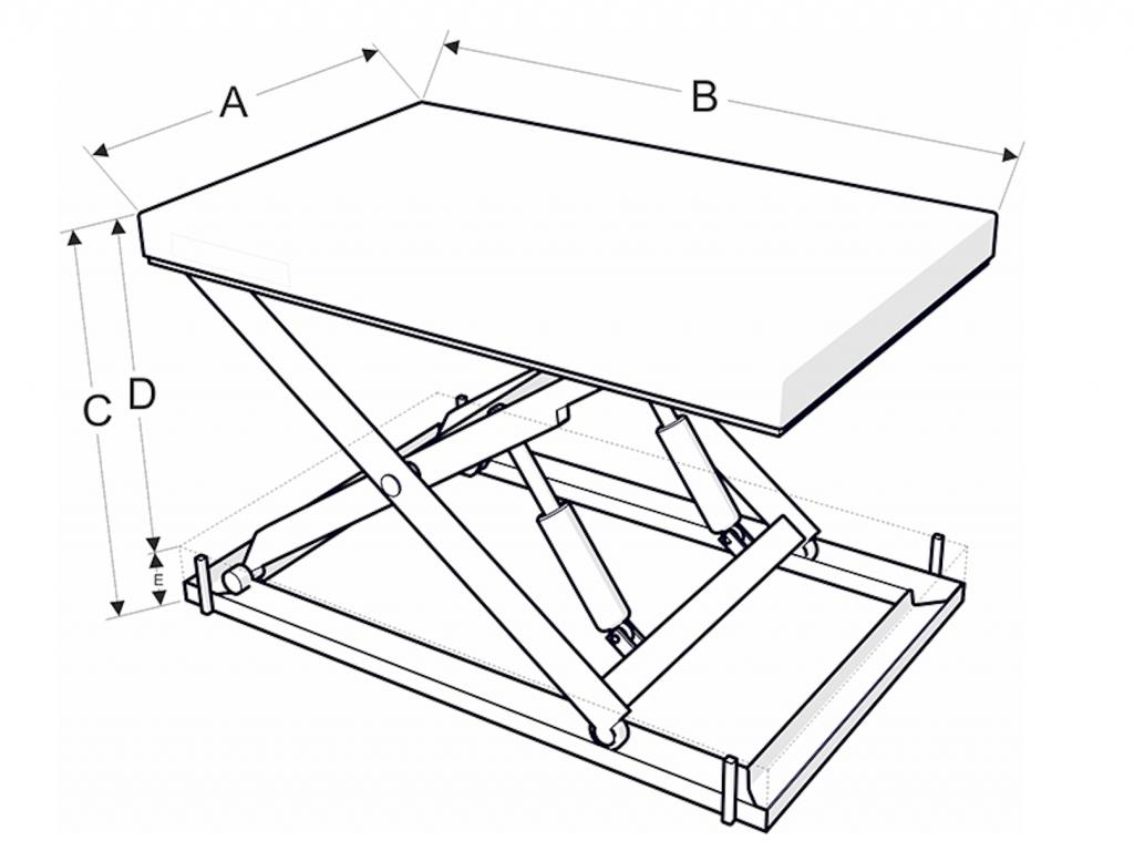 Egyollós emelőasztal méretek - Eco-Cranes