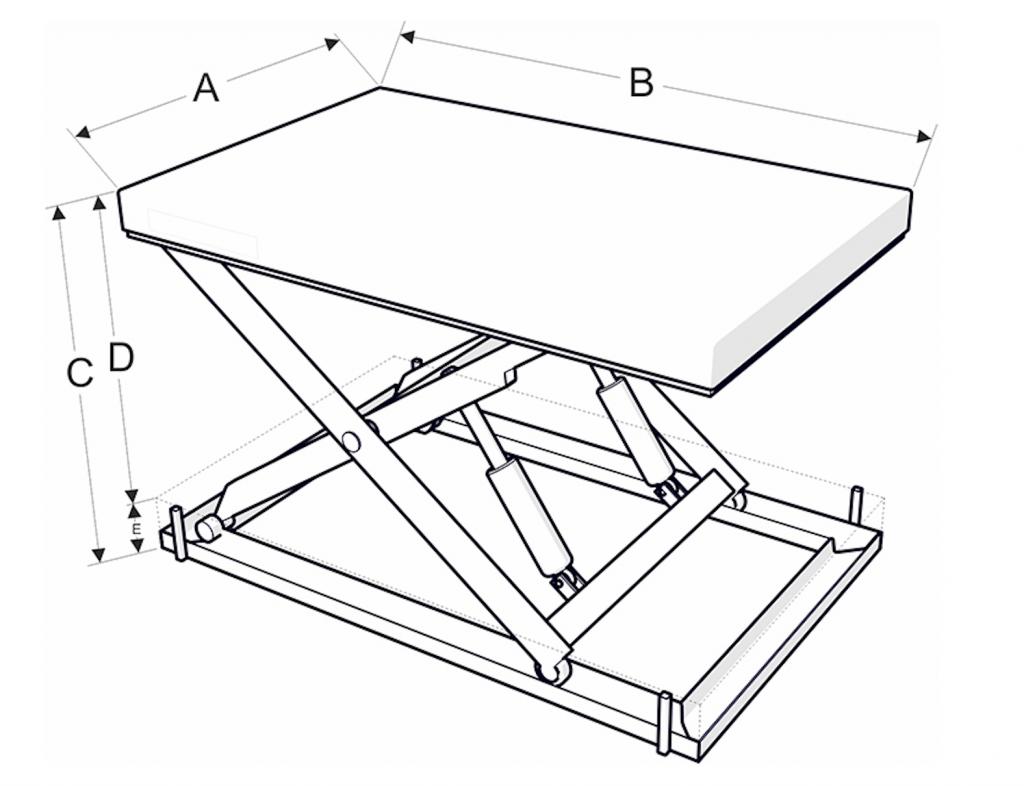 Rakodó dokkoló emelőasztal méretek - Eco-Cranes