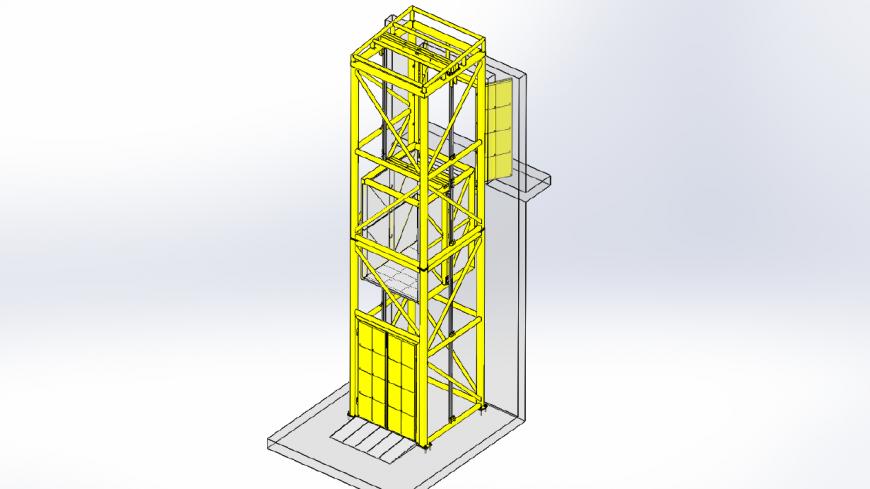 Sikeres projektjeink egyike: kültéri körülkerített technológiai emelő