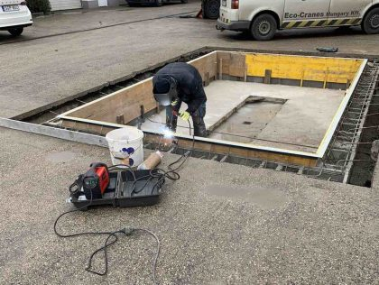 Daruk és emelők rögzítésének gyakori eszköze: a beton