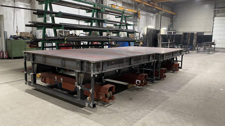 Kötött pályás beton-áthordó és -szállító kocsik tervezése és kivitelezése